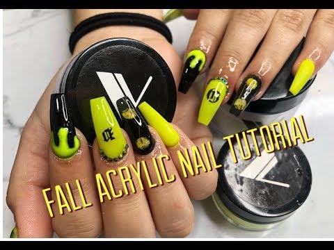 Fall/SPOOKY Acrylic Nail Tutorial & Giveaway thumbnail