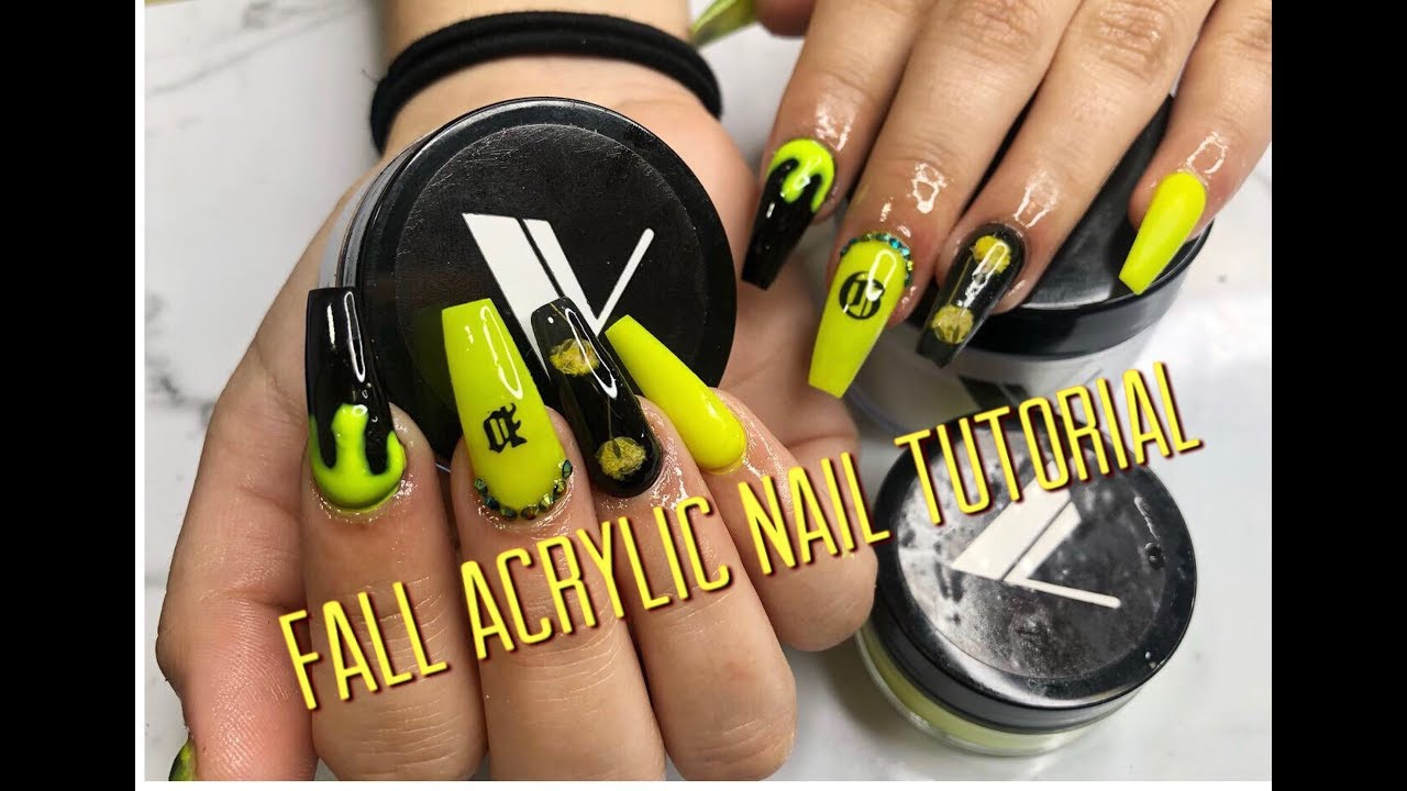 Fall/SPOOKY Acrylic Nail Tutorial & Giveaway