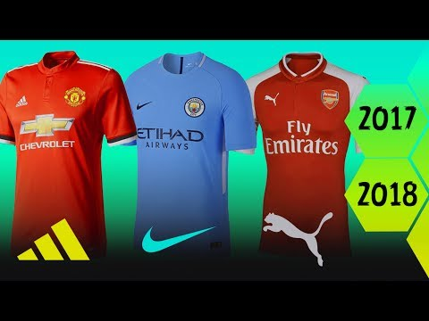 Premier League Home Kits For Season 2017/18