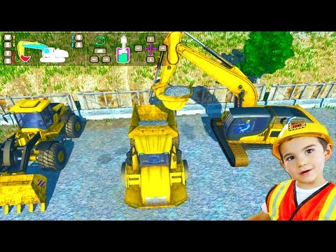 Construction Trucks Game for Kids: Playing Dig It! Digger Si