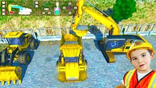 Construction Trucks Game for Kids: Playing Dig It! Digger Simulator - Excavator, Loader, Dump Truck