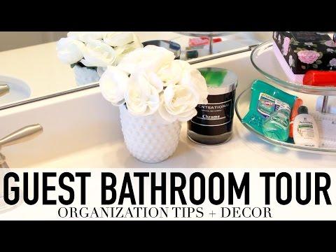 Guest Bathroom Tour | Decor Tips, Organization + Essentials