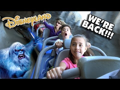 DISNEYLAND WE'RE BACK!!! First Time On Roller Coasters!