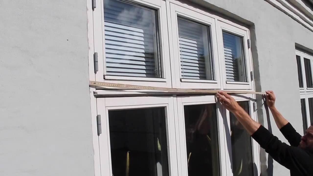 hvordan måle størrelse på vindu