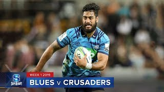 HIGHLIGHTS: 2019 Super Rugby Week 1 Blues v Crusaders