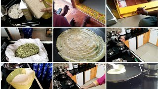 vlogging aa cooking videos aa/గోధుమరవ్వ దోసలు/indianmom busy lifestyle