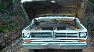 72 Ford 350 running after cold start
