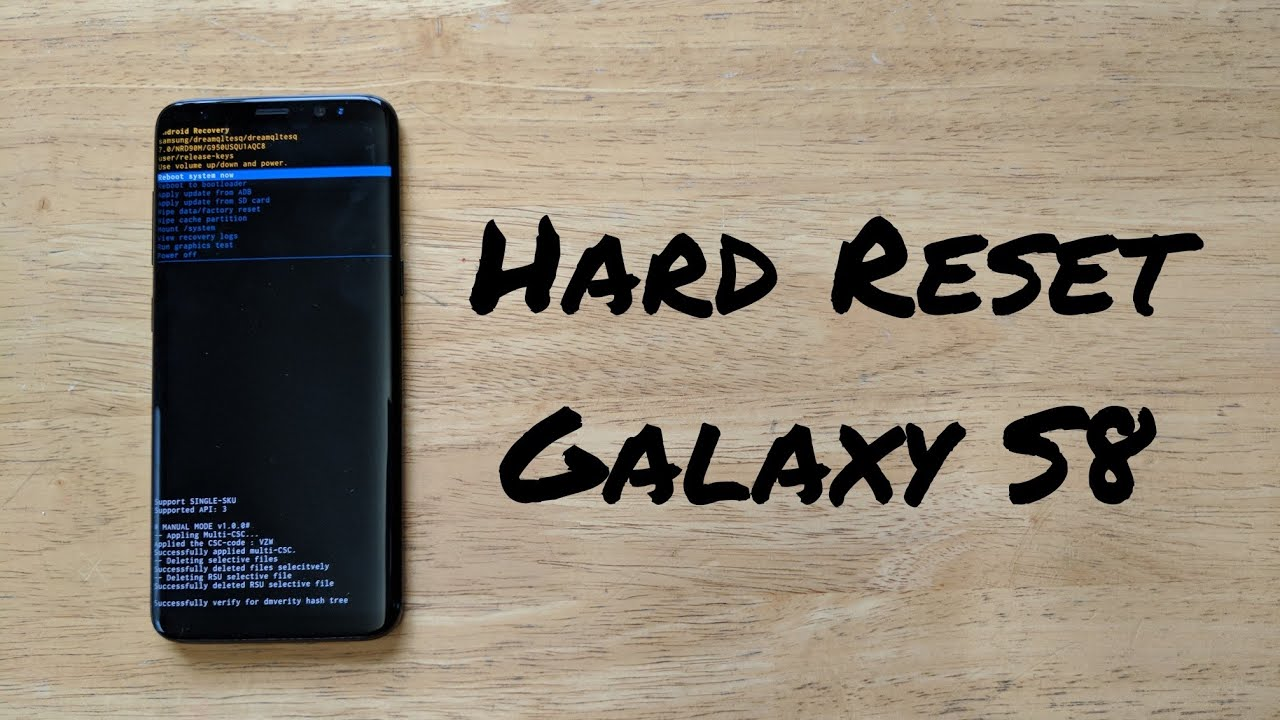 Hard Reset Samsung Galaxy S8 /S8 plus