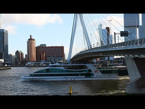 The Netherlands : An interesting Spido boat tour along the harbour of Rotterdam city