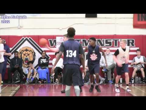 Tyler Linhardt C/o 2022 Pangos Jr All american camp highlights