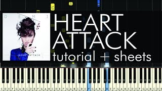 "How to Play ""Heart Attack"" by Demi Lovato - Piano Tutorial"