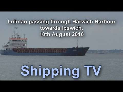 Luhnau passing through Harwich Harbour towards Ipswich, 10 August 2016ug