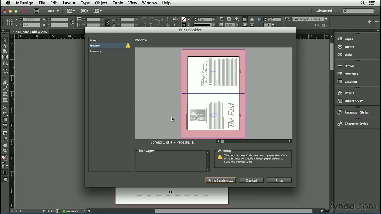 indesign cc tutorial printing a small booklet youtube. Black Bedroom Furniture Sets. Home Design Ideas