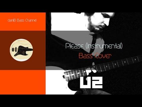 U2 Please Instrumental Bass Cover daniB5000