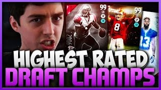 THE HIGHEST RATED DRAFT! MADDEN 16 EXTREME DRAFT CHAMPIONS