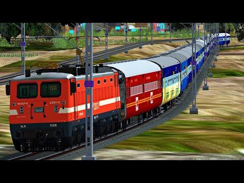 C. Shivaji Maharaj Terminus - Firozpur Cantt Punjab Mail Superfast Express | MSTS Open Rails