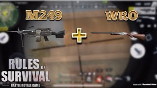M249 + WRO COMBO - Rules of Survival (Tagalog)