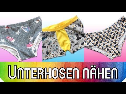 Nähen mit Stoffresten: Boxershorts und Unterhosen für Kinder und Erwachsene   Nähen für Anfänger