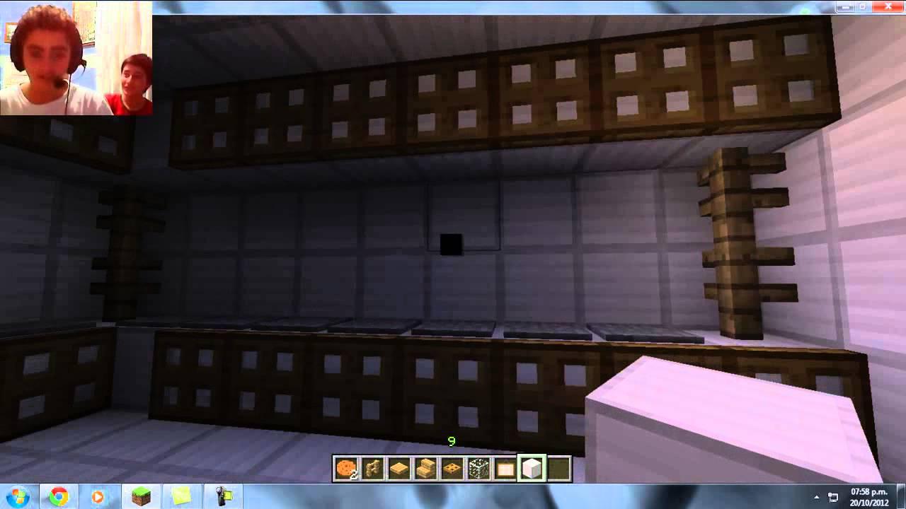 Como hacer una cocina en minecraft youtube - Como distribuir una cocina ...