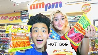 EATING GAS STATION FOOD FOR 24 HOURS!! - Challenge