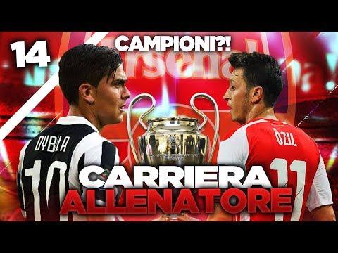 FINALE DI CHAMPIONS vs JUVENTUS! CARRIERA ALLENATORE ARSENAL #14 | FIFA 17