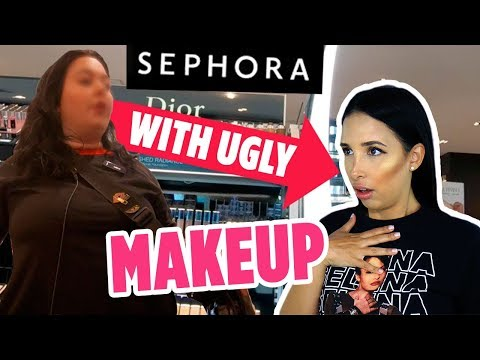 I Wore UGLY MAKEUP To SEPHORA | Mar