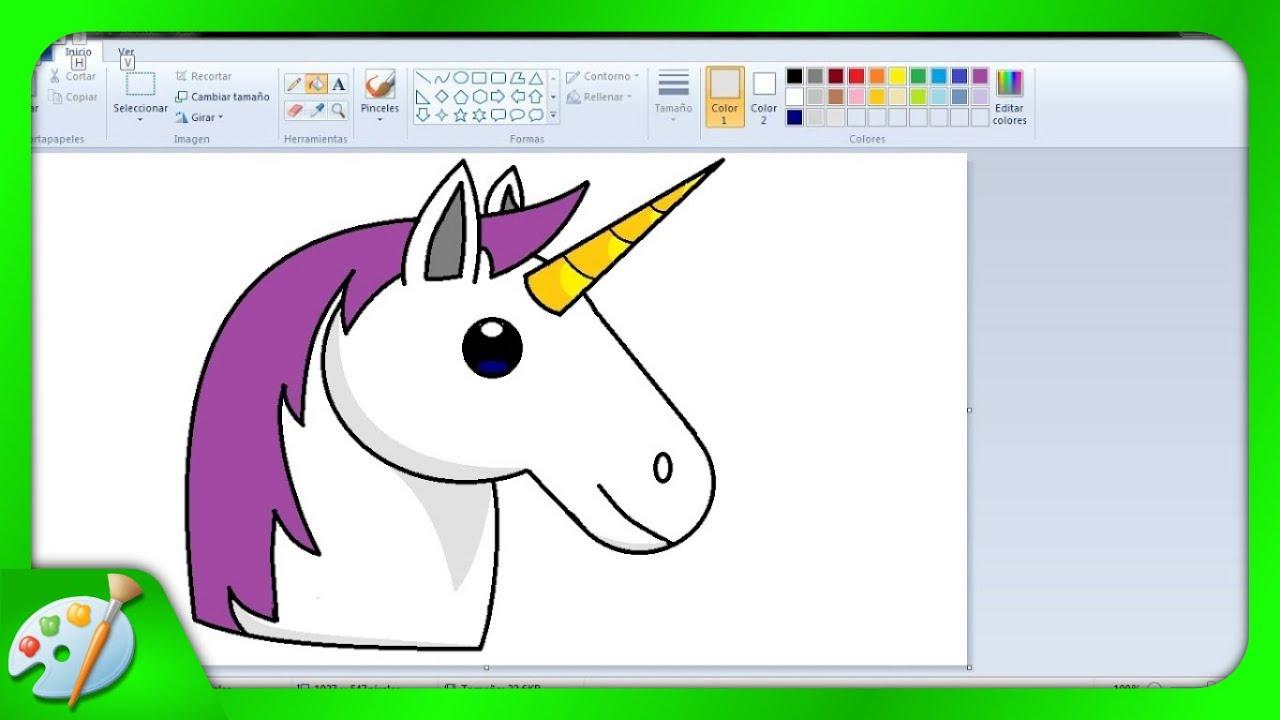 Dibujos Para Niños Con Paint: Cómo Dibujar Un Unicornio