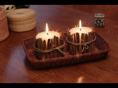 C mo hacer velas decorativas youtube for Cosas decorativas para navidad
