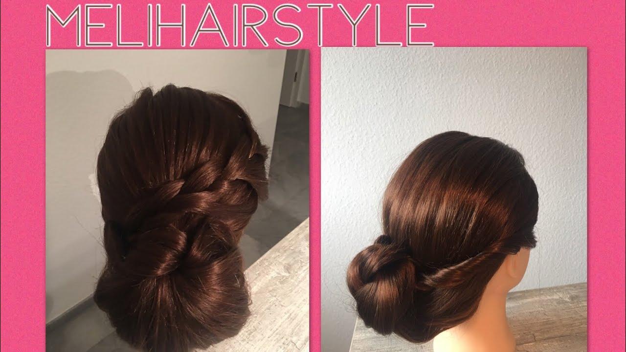 hochsteckfrisuren zwei einfache und schnell gemachte frisuren updo hairstyle braid hairstyle