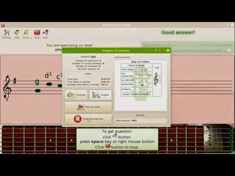 Exercises with Nootka - playing melody from score