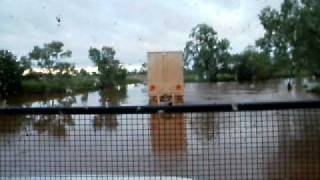 scotty driving across flooded creek n.t. 2010.AVI Thumbnail