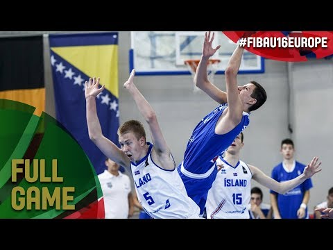 Iceland v Greece - Full Game - FIBA U16 European Championship 2017 - DIV B