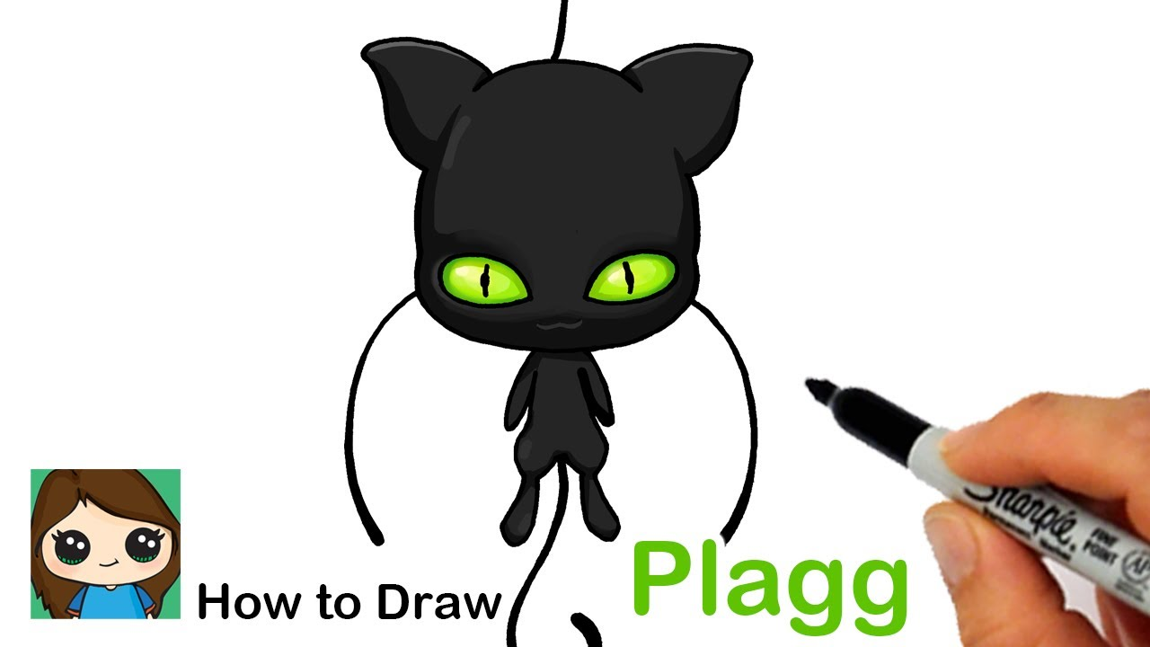 How to Draw Miraculous Ladybug Kwami Plagg Easy
