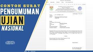 Contoh Surat Pengumuman Hasil Ujian Nasional 2018 Untuk Sd, Smp, Sma/smk