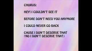 Never Go Back - Merrell Twins ( lyrics video )