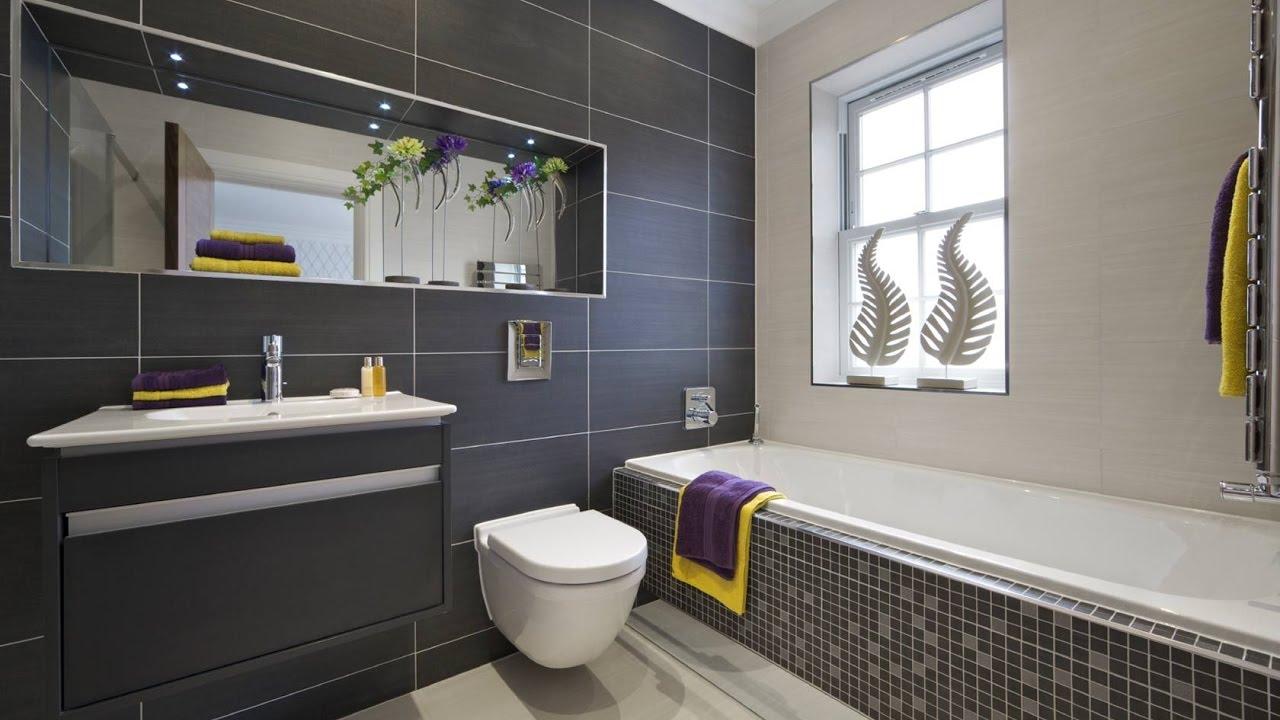 Grey Bathroom Wall and Floor Tiles Ideas - YouTube on Bathroom Tile Designs  id=50921