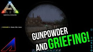 Griefing and Gunpowder! | New Official PvP Servers | ARK: Survival Evolved | Ep 29