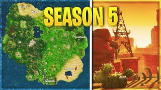 FORTNITE SEASON 5 MAP LOCATIONS LEAKED! (Pirates Point, Jurassic Jungle, Wild West)