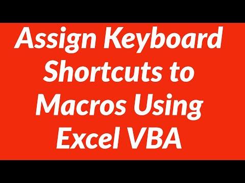 Assign shortcut key to macro