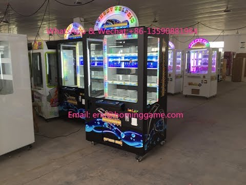 2016 How to test new key master prize luxury dolphin prize game machine (eric@hominggame.com)