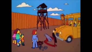 Excursion al campo de La Guerra Civil - Los Simpson