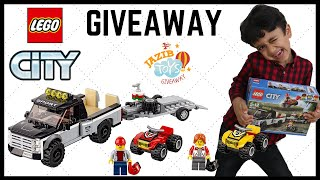 LEGO City ATV Race Team 60148 Building Kit with Toy Truck and Race Car Toys Giveaway Video for Kids
