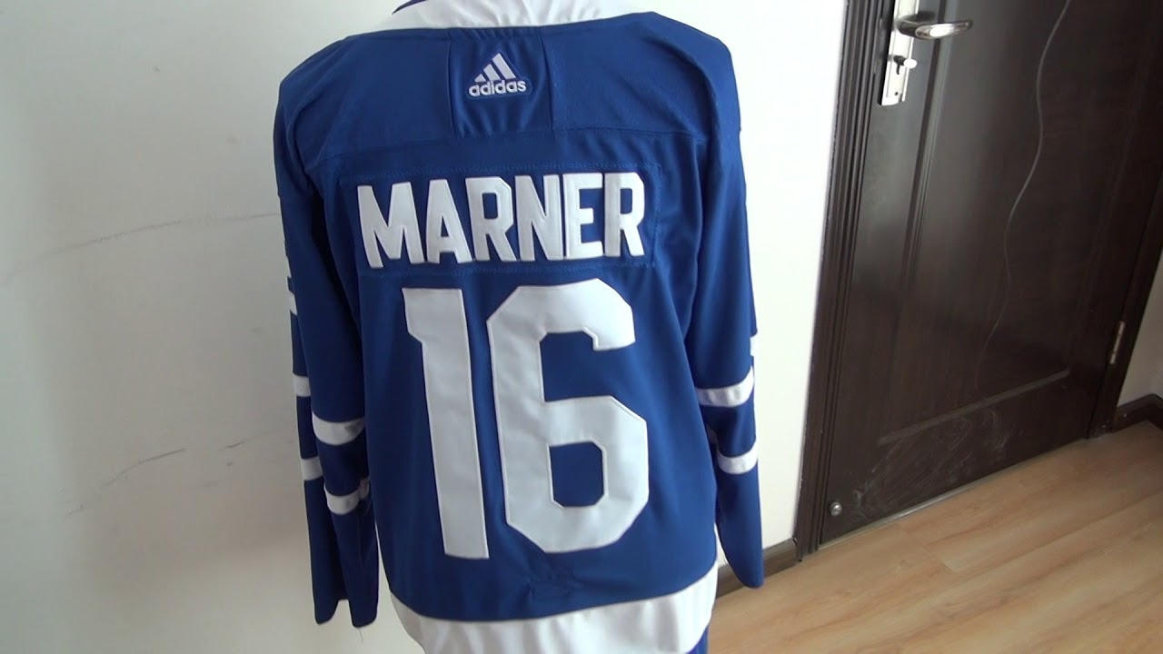 aa9e7251038 NHL jerseys review Adidas Maple Leafs  16 Mitchell Marner Blue Stitched NHL  Jersey review