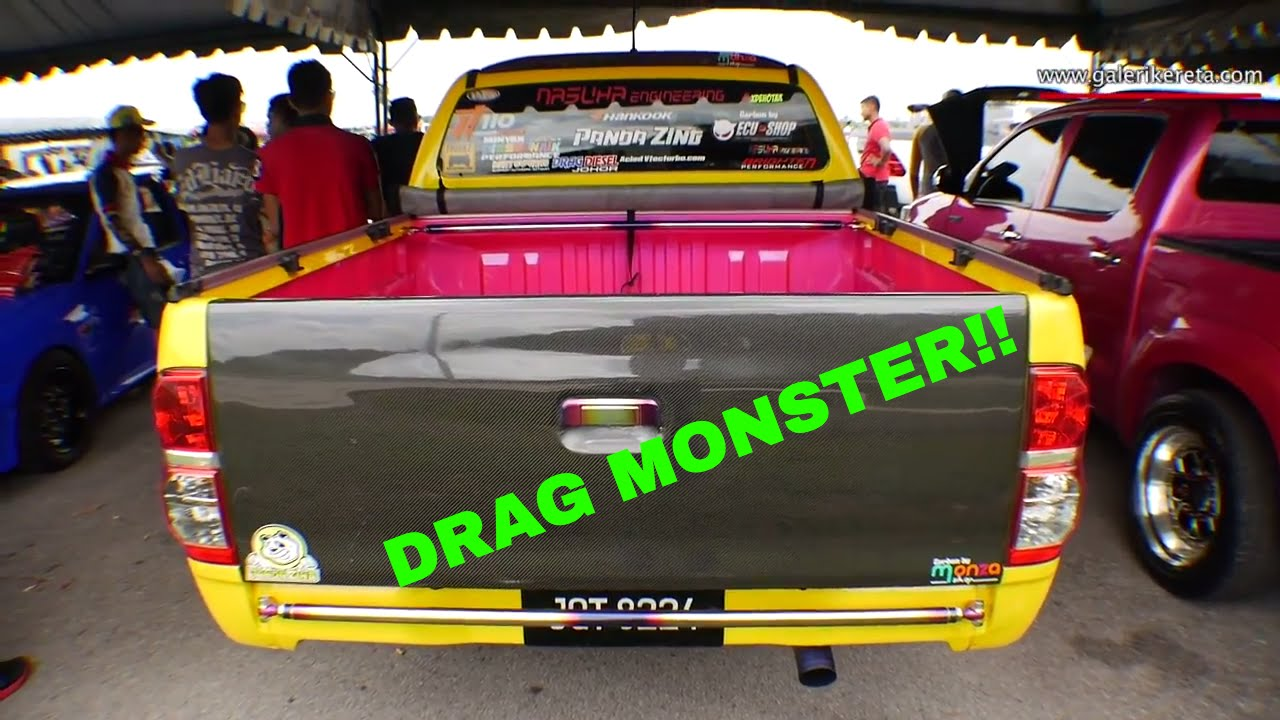 Toyota Hilux Modified Drag Truck The Yellow Monster Dragtimes2U Kbs Drag Championship Johor 2016
