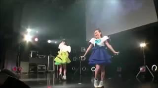 乙女新党ラストライブの映像。 歌っているのは緑担当の緒方真優ちゃん、...