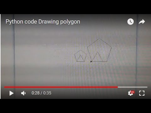 Python code Drawing polygon