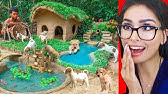 Kid Builds Amazing Mud House for DOGS