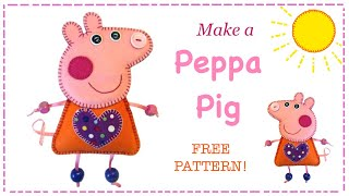 How To Make Peppa Pig Felt Plushie Luggage Tag With Free Pattern By Lisa Pay