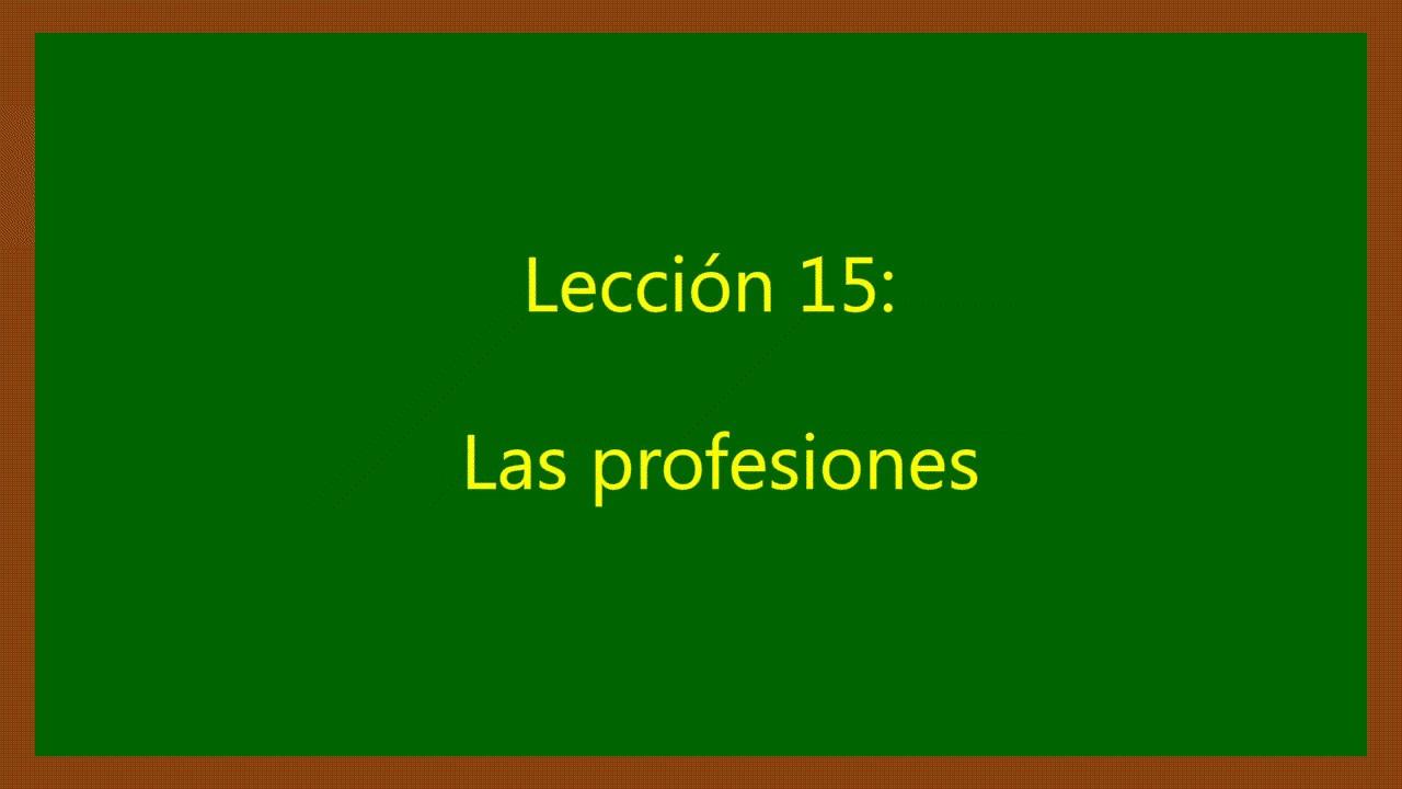 As Profissões Em Espanhol
