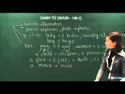 Học Ngữ pháp Tiếng Anh - Bài 1:   Danh từ - Tiết 2
